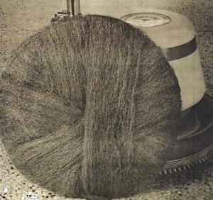 steel wool roll